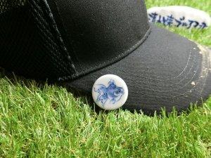 画像4: 清水焼ゴルフマーカー(1)呉須(藍色染付)タイプ