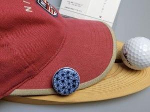 画像5: 清水焼ゴルフマーカー(1)呉須(藍色染付)タイプ