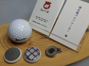 画像2: 清水焼ゴルフマーカー(2)上絵(色物)タイプ
