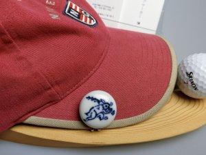 画像3: 清水焼ゴルフマーカー(1)呉須(藍色染付)タイプ