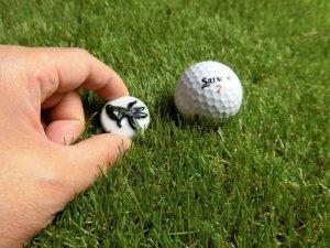 画像2: 清水焼ゴルフマーカー(3)型押し・いっちんタイプ